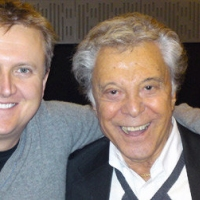 Aled and Lionel Blair for 'BBC Radio Wales'.
