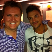 Aled and Peter Andre.