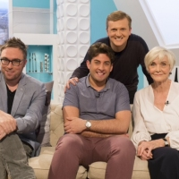 Aled with Sheila Hancock, James Argent and Danny Wallace on 'Weekend'.
