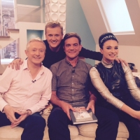 Aled with Louis Walsh, John Michie and Gizzi Erskine on 'Weekend'.