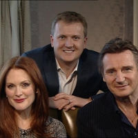 Aled with Julianne Moore and Liam Neeson for 'Daybreak'.