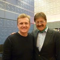 Aled with Tim Wonnacott for 'BBC Radio Wales'.