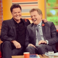 Aled with Donny Osmond for 'Daybreak'.