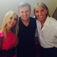 Aled with Nik and Eva Speakman for 'Daybreak'.