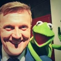 Aled and 'Kermit the Frog' on 'Daybreak'.