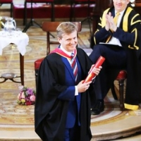 Aled receiving his 'Fellowship' from The Royal Academy of Music.