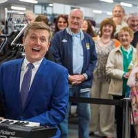 Aled giving an impromptu performance at the opening of Tweedmill Shopping Outlet in North Wales.