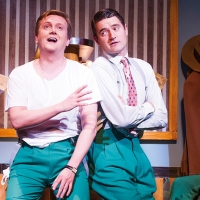 Aled and Tom Chambers in 'White Christmas' - Dominion Theatre, London, 2014.