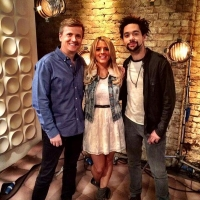 Aled with country duo The Shires on 'Weekend'.