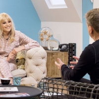 Aled with Pixie Lott on 'Weekend'.