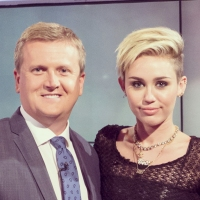 Aled and Miley Cyrus for 'Daybreak'.