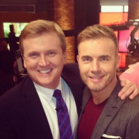 Aled with Gary Barlow OBE for 'Daybreak'.