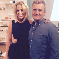 Aled with Sarah Harding on 'Weekend'.