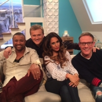 Aled with Shaggy, Preeya Kalidas and Antony Cotton for 'Weekend'.