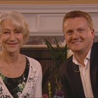 Aled with Dame Helen Mirren for 'Daybreak'.