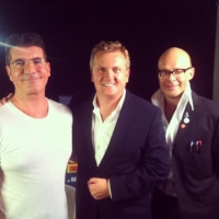 Aled with Simon Cowell and Harry Hill for 'Daybreak',