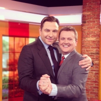 Aled and David Walliams on 'Daybreak'.