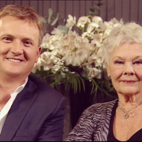 Aled with Dame Judi Dench for 'Daybreak'.