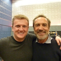 Aled with Robert Lindsay for 'BBC Radio Wales'.