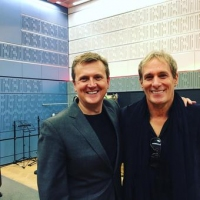 Aled with Michael Bolton for 'BBC Radio Wales'.