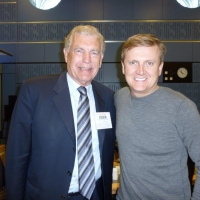 Aled and Trevor Brooking for 'BBC Radio Wales'.