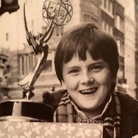 Aled with his 'Emmy'.