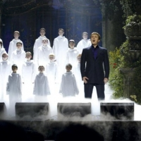 Aled with 'Libera' at the Classical Brit Awards.