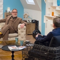 Aled with Vic Reeves on 'Weekend'.