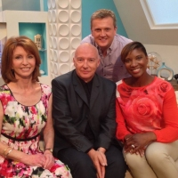 Aled with Jane Asher, Midge Ure and Denise Lewis on 'Weekend'.